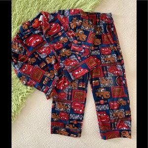Boys Disney Cars Lightning McQueen Flannel Pajamas